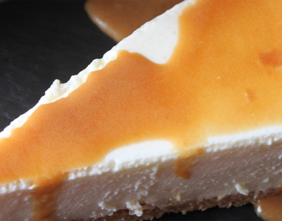 Traditional coffee cheesecake